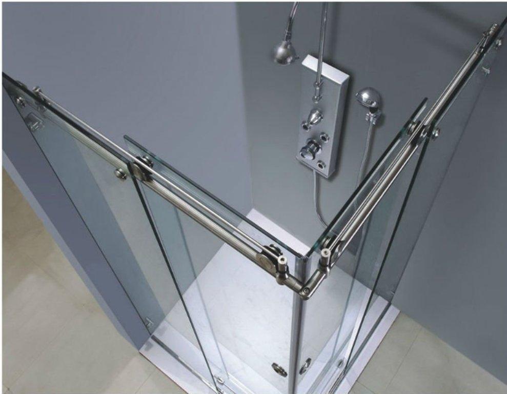 Frameless Sliding Glass Shower Doors Versus Glass Door Corfu Glass